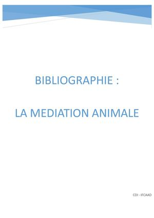 La Mediation Animale