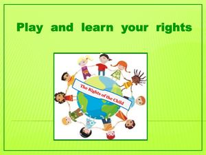 Guidance to the box Play and Learn your Rights