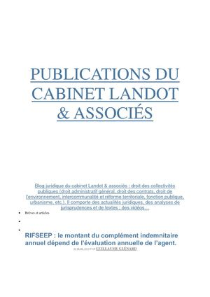 Publications Du Cabinet Landot Rifseep