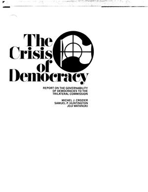 Trilateral The Crisis Of Democracy