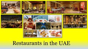 Different Types of Restaurants in UAE