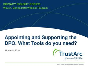 Tools needed for Appointing and Supporting DPO role | TrustArc