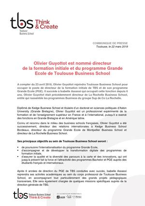 TBS CP Nomination Olivier Guyottot