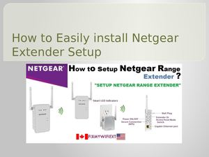How To Easily Install Netgear Extender Setup