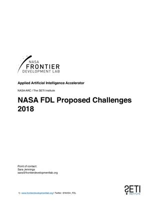 NASA FDL Challenges Overview 2018