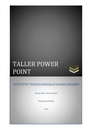 Taller Power Point