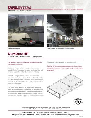 Dura Duct Is Fire Rated Duct System