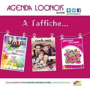 Agenda loonois d'avril 2018