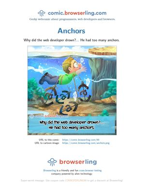 HTML Anchors - Programming Joke