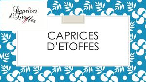 Catalogue Caprices d'Etoffes