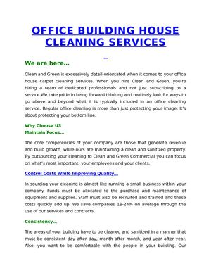 Calameo Office Building House Cleaning Services