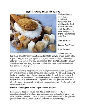 Myths You Believed About Sugar