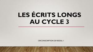 Écrits Longs Support Animation
