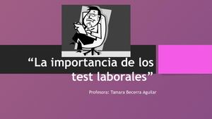 La Importancia De Los Test Laborales