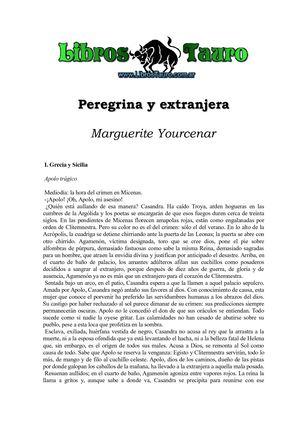 Calaméo - Yourcenar, Marguerite - Peregrina Y Extranjera