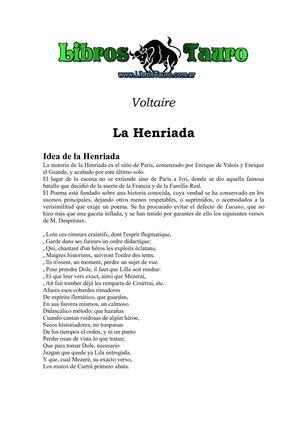 Calaméo - Voltaire - La Henriada Poema Epico