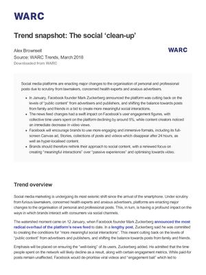 Trend Snapshot The Social 'Cleanup'