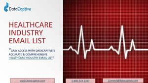 Healthcare Industry Email List | Healthcare Industry Mailing List