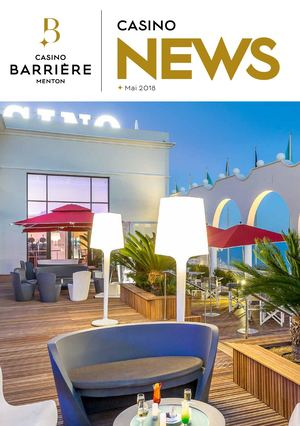 CASINONEWS MAI 2018 // CASINO BARRIERE MENTON