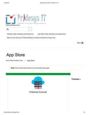 App Store For Erp Pridesys It Ltd