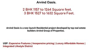 Arvind Oasis New Launch Bangalore