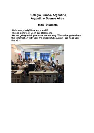 M2a Project Connecting Classrooms