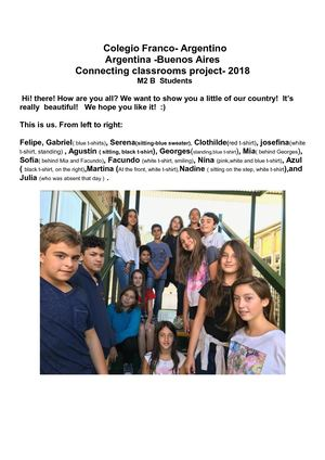 M2 B School Project 2018 Connecting Classooms