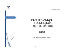 Plan 6to Año 2018