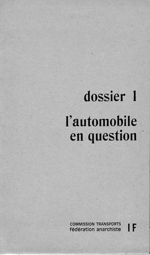 « L'Automobile en question »
