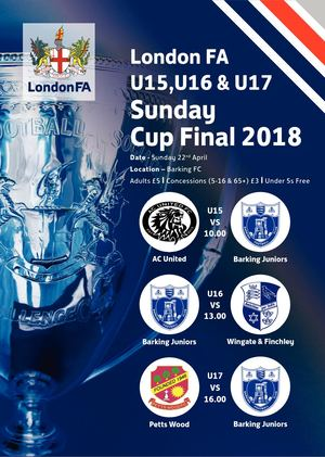 London FA Sunday Under15 16 And 17 V1