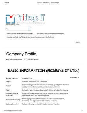 Calaméo - Company Profile Pridesys   Pridesys IT Ltd