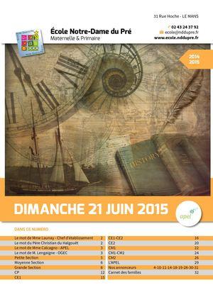 Journal de l'école NDDP 2014-2015