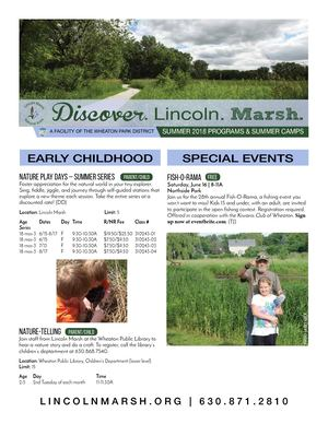 Summer 2018 Programs by Lincoln Marsh