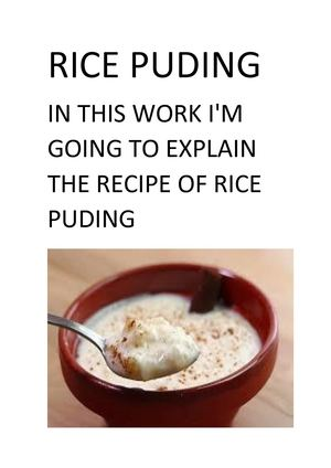 Rice Puding