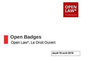 Open Badges - CR réunion du 19 avril 2018