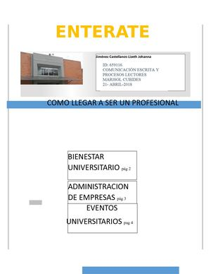 Enterate Universidad Uniminuto