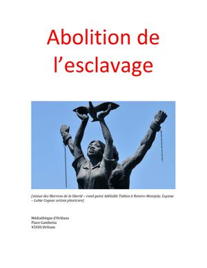Abolition De Lesclavage Bibliographie27 04 2018