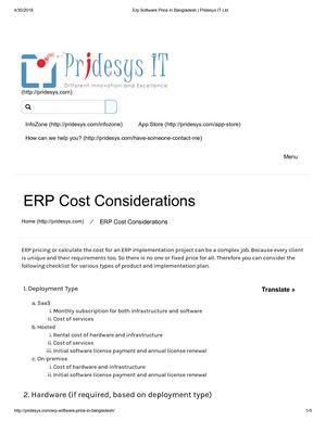 Erp Software Price In Bangladesh Pridesys It Ltd