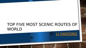 Most Scenic Routes Of World By Li Haidong Singapore