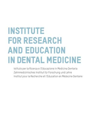 Brochure Institute For Research And Education In Dental Medicine – Italiano