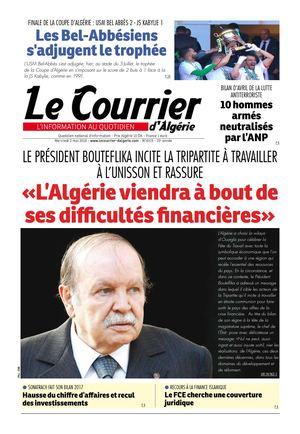 Calameo Le Courrier D Algerie Du Mercredi 2 Mai 2018
