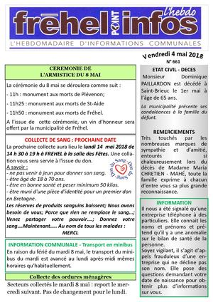 Journal municipal Fréhel.info du 4 Mai 2018