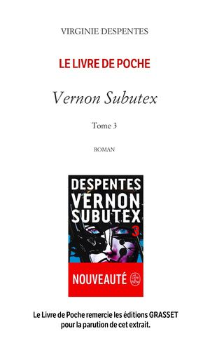 Despentes_Vernon Subutex Tome 3_Extrait