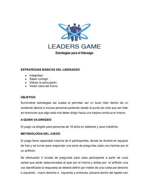 Leaders Game