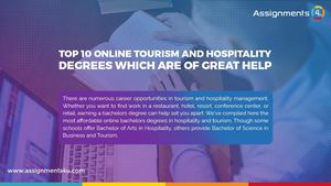 List Of 10 Online Tourism And Hospitality Degrees Which Are Of Great Help