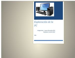 Exploración de la pc