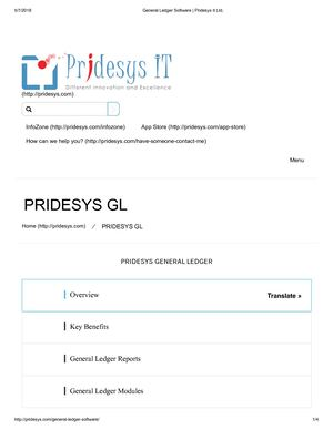 General Ledger Software | Pridesys It Ltd,