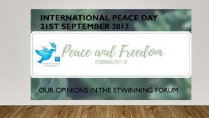 International Peace Day 21st sep