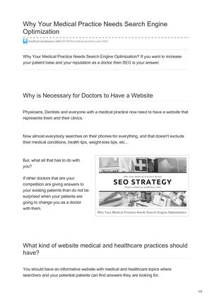 SEO for Medical Practices: Health Care Marketing Tips