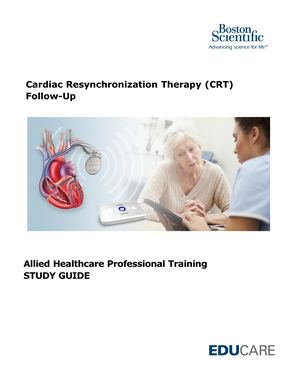 CRT AHP Follow Up Study Guide